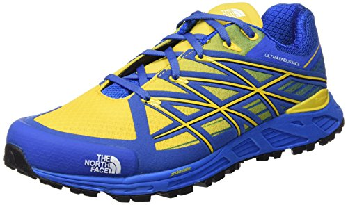 The North Face M Ultra Endurance, Zapatillas de Running para Hombre, Azul (Blue Quartz/Freesia Yellow), 45 1/2 EU