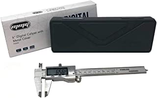 MMG Electronic Digital Caliper Range 0-150mm / 0-6 inches, Stainless Steel with Extra Large LCD Screen, Display Inch/Fractional Inch/Millimeters