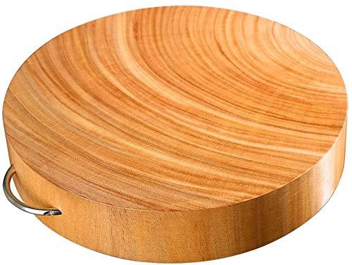 Sooiy El Tablero de Corte (Madera sólida Reversible) Cortar leña Hierro tajadera con Ronda Mango * Tablero de Corte de Madera para Carne y Verduras Chopping Boards,15.35X1.57in