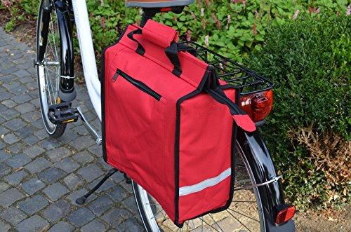 Gravidus Shopper Tasche für Gepäckträger (Rot)