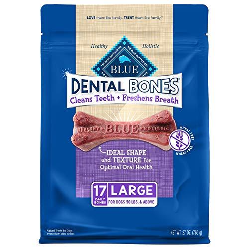 Blue Buffalo Dental Bones Natural Adult Dental Chew Dog Treats  Large 27oz bag Value Pack