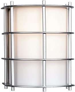 Forecast Lighting F8490-41NV Hollywood Hills One-Light Exterior Wall Light with Etched White Opal Glass, Vista Silver