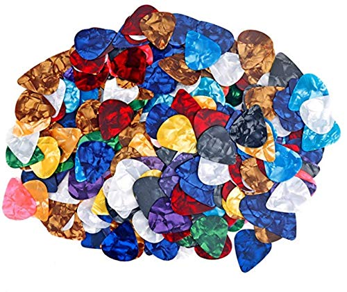 AUGSHY 300 Pcs Guitar Picks Sampler Value Pack, Includes Thin, Medium & Heavy Gauges