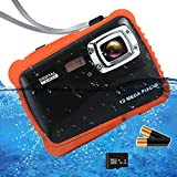 ISHARE Kids Camera, 12MP 1080P Waterproof Digital Camera with 2' LCD, 8X Digital Zoom, Flash and Mic for Kids Girls Boys …