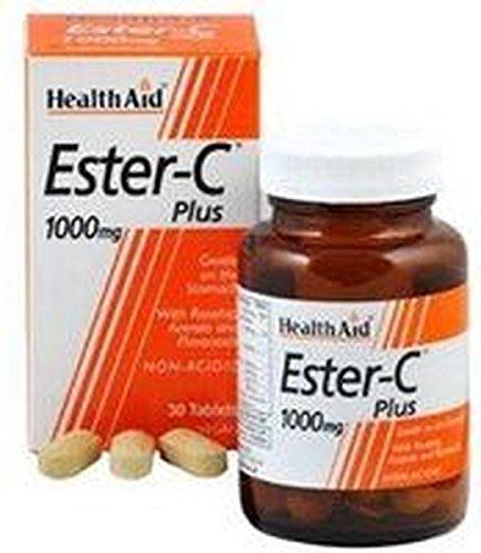Ester C Plus 30 comprimidos de 1000 mg de Health Aid
