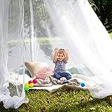 esafio Moskitonetz Bett, Groß Mückennetz inkl. Montagematerial,  Moskitoschutz Doppelbetten mit extra großem Spannring für Zuhause auch auf der Reise - 4