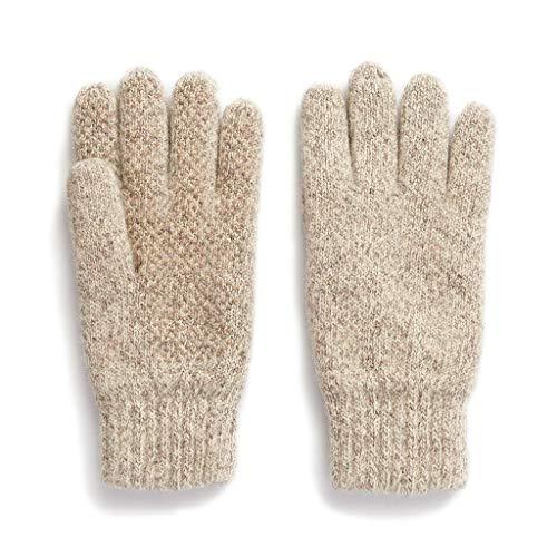 HOT SHOT Herren Ragg Wollhandschuh, Herren, Oatmeal - Full Finger Glove, Einheitsgröße