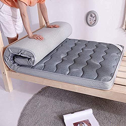 Colchones Futon Colchón De Suelo Suave Comfort Tatami Mat Cojín De Dormir del Dormitorio del Estudiante del Grueso,Gray-180 * 200cm