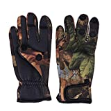 LIOOBO 1 Pair 3 Cut Fingers Fishing Gloves Skidproof Sun Protection Fishing Tackle for Fly Fishing...