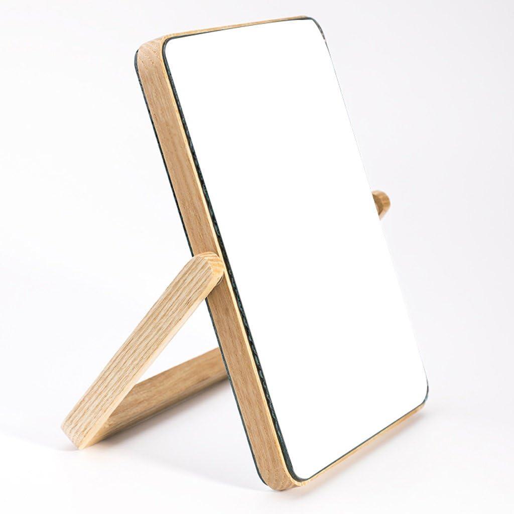 Luxury HTDZDX Creative European Desktop Makeup Ranking TOP15 Wooden Mir Duplex Mirror