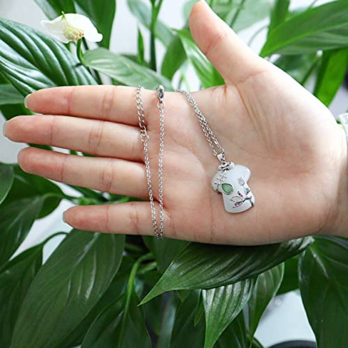 JIUXIAO Tendencia joyería de Acero Inoxidable Mujer Blanco Hetian Jade Cheongsam Colgante Chapado en Oro de 18 Quilates Collares de Cadena de Plata para Mujeres
