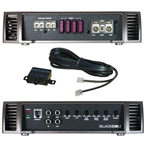 BASS FACE BLACKDB1.1 monofone versterker klasse d 1 kanaal 1500 watt rms 1 ohm true en 3000 watt max specifiek voor subwoofer spl auto, 1 stuk