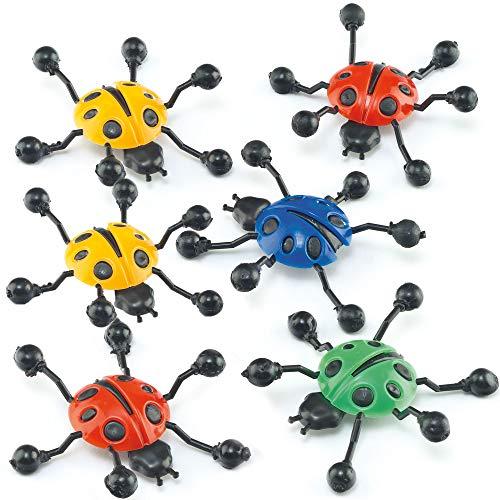 Baker Ross Fensterläufer - Marienkäfer - Spielzeug für Kinder als Mitgebsel und Preis beim Kindergeburtstag - 6 Stück