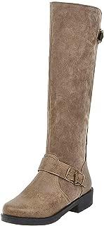 RizaBina Women Fashion Knee High Boots Block Heels