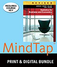 Bundle: Statistics for Business & Economics, Revised, Loose-leaf Version, 12th + MindTap Business Statistics, 2 terms (12 months) Printed Access Card