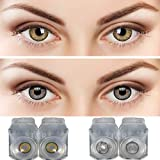 55% water, 35% phemfilcon A 6 soft Lenses In a strile buffered saline solution Suitable for both Male and Female Store it in a proper case, always use fresh solution and do not wear it overnight 2 Pair Monthly Color contact lens, 1 Case and 1 Solutio...