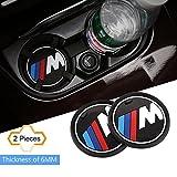 S-WEKA Gamme M - Lot de 2 sous-verres antidérapants pour intérieur de voiture - BMW Série 1, 3, 5, 7, F30, F35, 320li, 316i,...