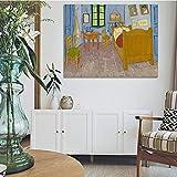 Vincent's Bedroom in Arles Posters e impresiones en lienzo Arte de la pared Pintura en lienzo Imágen...