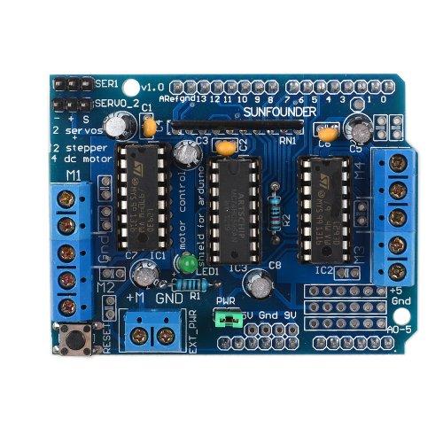 SunFouder L293D Motor Drive Shield For Arduino Duemilanove Mega UNO R3 AVR ATMEL (MEHRWEG)