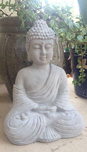 Buddha Statue Concrete Religion Grey Garden Lawn Decor Peace Buddhism 9' Tall