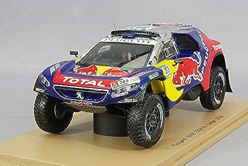 Spaßk S4877 Peugeot 2008 R Rallye Dakar 2016 Ma ab 1 43 Blau Rot Gelb
