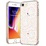 BICOL iPhone SE2 Case 2020,iPhone 7 Case,iPhone 8 Case,Elegant Floral Henna Mandala Flower Pattern Clear with Design Protective Phone Case Cover for Apple iPhone 7/iPhone 8/iPhone SE2