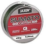 Jaxon SUMATO - Hilo trenzado para pesca de siluro, 250 m (0,36 mm/40 kg)