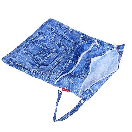 Damero 3点セット 可愛い ウェットバック 防水バッグ おむつポーチ 温泉ポーチ スポーツバッグ オ