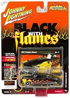 Johnny Lightning New Diecast Toys Car 1: 64 Street Freaks 2018 Release 4 Version A - 1951 Hudson Hornet (Black/Red Flames) Jlsp052-24A