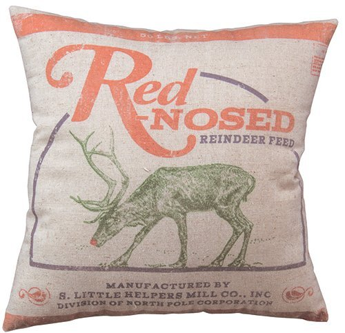 Lsjuee Urlaub rotnasiges Wurfkissen Holiday Red-Nosed Throw Pillow