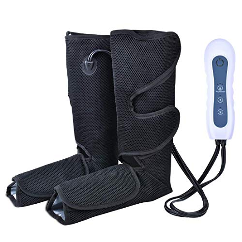 Leg Air Massager for Circulation, Leg Massager for Foot and Calf Boots Wraps for Calves and Feet 4 Modes & 3 Intensities ,Leg Compression Machine for Home use