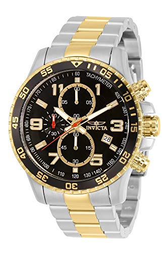 Invicta Men's Specialty 45mm Steel and Gold Tone Stainless Steel Quartz Watch, Two Tone (Model: 14876)