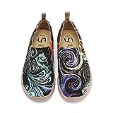 UIN Estrellada Mocasín de Mujer Verano,Mocasín de Cuero Casual Diseñado Holgazán de Mujer Zapatos Comodos de Zapatos Mujer, Lona 38