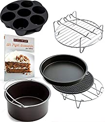 Image of Air Fryer Accessories for Gowise Phillips and Cozyna, Deluxe Set of 6, Fit all 3.7QT: Bestviewsreviews