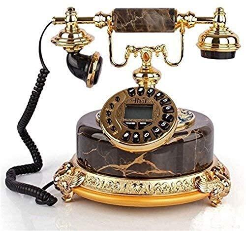 YYCHJU Teléfono con Cable Teléfono Hogar Botón Fijo Dial Teléfono Jade Landline (Color : Black)