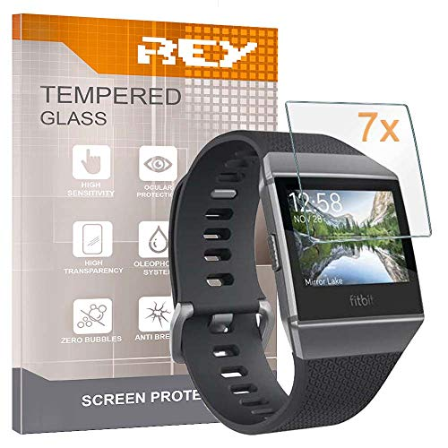 REY Pack 7X Displayschutzfolie für Fitbit Ionic, Premium-Qualität