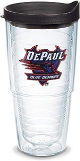 Tervis DePaul Blue Demons Tumbler with Emblem and Black Lid 24oz, Clear