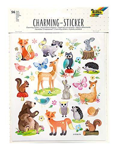 folia 18211 - Charming Sticker, Allyear VI, 56 Sticker, in verschiedenen Motiven, einfach von der Folie abzuziehen