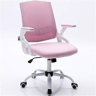 sillas de Oficina para computadora, Silla ergonómica Rosa para Oficina Trasera, Silla de Aprendizaje para Estudiantes de computadora, Silla giratoria para Escritorio para el hogar, Rosa-Rosa