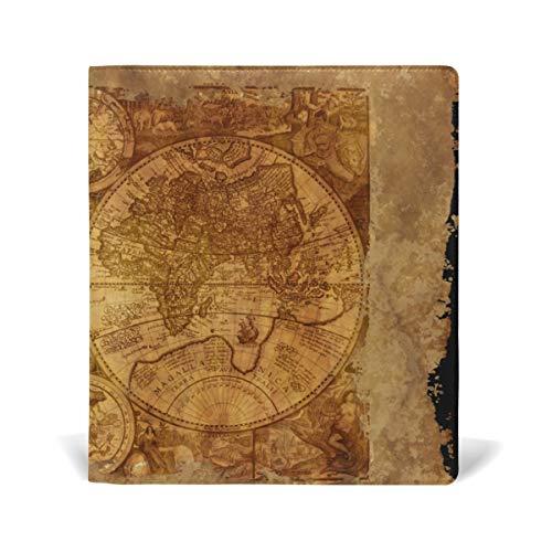 DEZIRO Bucheinband Weltkarte, passend für Hardcover Lehrbücher bis 22,9 x 27,9 cm