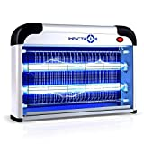 Impacthor Bug Zapper Electric Indoor Insect Killer For Mosquito, Fly, Moth, Fruit flies & More Insects Killer [Upgraded 2020] Strongest 2800V Grid 20W Bulbs