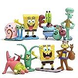 CAKJCAR 8 piezas lindo Bob Esponja de dibujos animados muñecas...