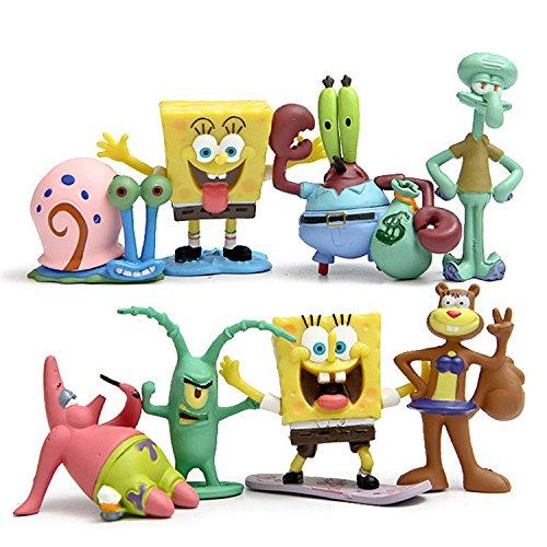 Cakjcar süße Spongebob Cartoon-Puppen / Spielzeug, für Urlaub, Weihnachten, Geschenk, 8 Stück