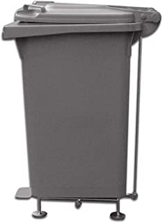Jiji Trash can 60L Outdoor Trash Bin Rolling/Pedal Type Waste Bin with Lid Sanitary Large Capacity Easy to Clean White Thick Trash Can Garbage Bin (Category : Pedal)