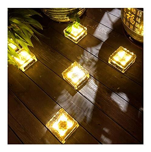 YANGYUAN 5 piezas de hielo enterradas solar lámpara de jardín luces LED a prueba de agua la noche se enciende luces de cadena imputable al aire libre lámpara de mesa Armario de luz for el dorm