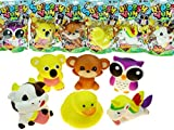 JA-RU Squishy Yum Petz Super Soft (6 Units) Stress Relief Scented Squishies Slow Rising. Plus 1 Exclusive Bouncy Ball | Item #3341-6p
