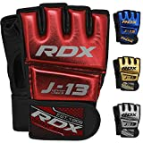 RDX Kinder MMA Handschuhe für Kampfsport Training | Junior Metallic Leder Kickboxen Grappling Gloves | Punchinghandschuh für Sparring, Freefight, Muay Thai, Boxsack, Sandsack (MEHRWEG)