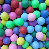 The WomenLand 10/25/50 PCS Colored Ping Pong Balls, 40mm 2.4g Entertainment Table Tennis Balls Mixed Colors for Game and Advertising, Premium Table Tennis Accessories. (50 PCS)