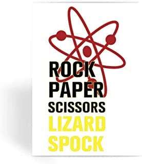 Big Bang Theory Card, Greeting Card, Note Card, Birthday Card, Blank Inside - Rock Paper Scissors Greeting Card