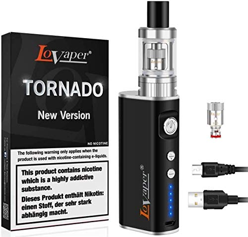 E Zigarette Starter Set - Lovaper E-Zigarette 2200mAh Akkuträger, E-Zigaretten 2.0ml Top Refill Vermeiden Leckage, 0.5 Ohm Verdampferköpfe, Elektronische Zigaretten Ohne E Liquid Ohne Nikotin